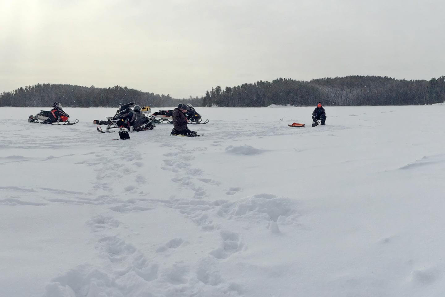 ontario ice fishing trip